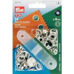 Öljetter mässing - silverfärgade  4-14mm (fler olika produktval)