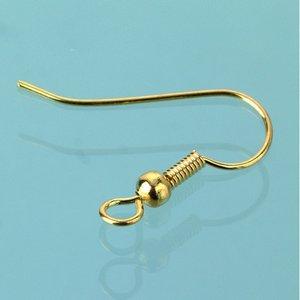 Öronkrokar 20 mm - guldpläterade 100 st.