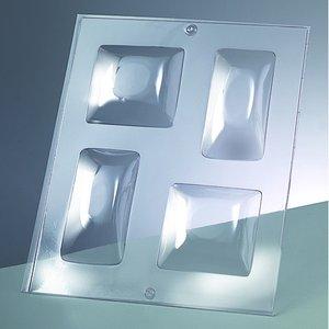 3-D Gjutform för tvål 70 x 70 mm / 60 x - kvadrat / 2 delar
