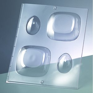 3-D Gjutform för tvål 90 x 90 mm / 60 x - kvadrat / 2 delar