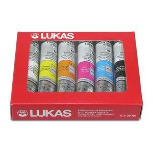 Akrylfärgset Lukas Cryl Studio - 6 x 20ml tuber