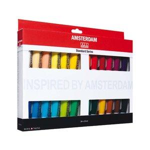 Akrylfärgsset Amsterdam 20 ml - 24 tuber