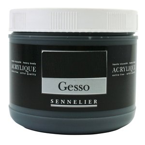 Akrylmedium Sennelier 500 Ml - Black Gesso