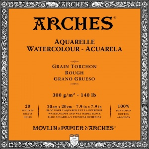 Akvarellblock Grov gräng Arches 300g