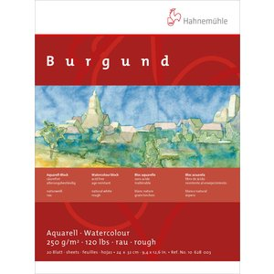 Akvarellblock Hahnemühle Burgund 250g Grov