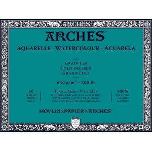 Akvarellblock Kallpressad Arches 640g