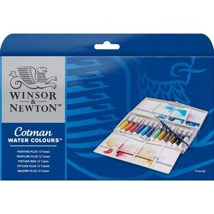 Akvarellfärg W&N Cotman Tuber - Målarbox 12 färger