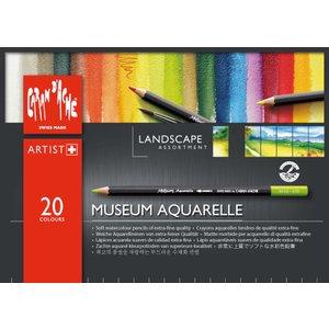 Akvarellpennset Caran D´Ache Museum - Landsc. 20 pennor