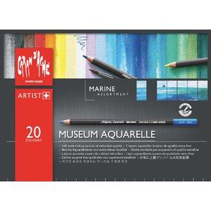 Akvarellpennset Caran D´Ache Museum - Marine 20 pennor