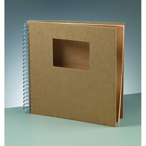 Album för scrapbooking 30 x 30 cm / 9 x - brun 25 sidor cutout rektangel