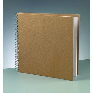 Album för scrapbooking 30 x 30 cm - brun 25 sidor m. spiral tråd