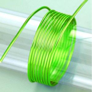 Aluminiumtråd ø 2 mm - ljusgrön 5 m / ~ 42 g