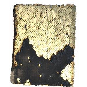 Anteckningsbok Paljetter Svart/Guld
