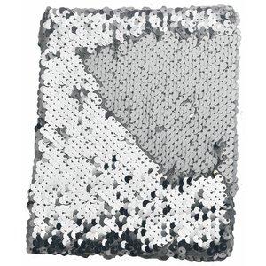 Anteckningsbok Paljetter Vit/Silver