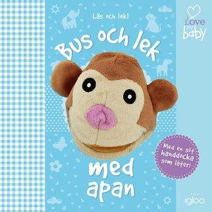 Barnbok Bus och lek med apan - I love my baby (Handdocka)