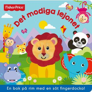 Barnbok Det modiga lejonet - Fisher-Price (fingerdocka)