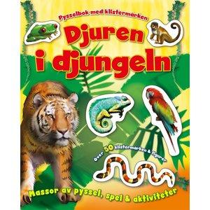 Barnbok Djuren i djungeln -  (med klistermärken)