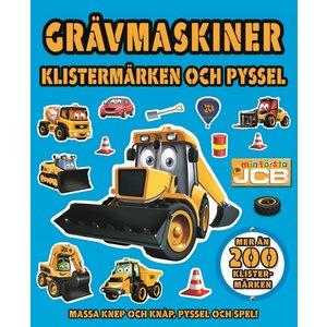 Barnbok Grävmaskiner - JCB (med klistermärken)