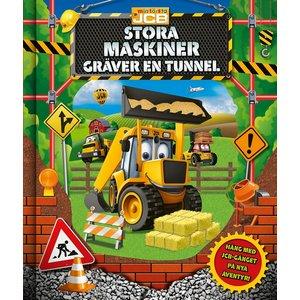 Barnbok Stora maskiner gräver en tunnel - JCB (3D-omslag)