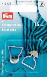 Bikinispänne met. 15 mm silverfärg