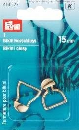 Bikinispänne metal 15mm guldfärg 1 st