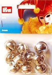 Bjällror silverfärg 10 st