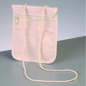 Bomullsartiklar 17 x 14 cm - naturlig bomull 280g / m² väska med hängare