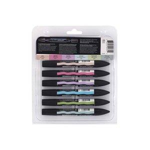 BrushMarker W&N - Pastelltoner 6 Pennor