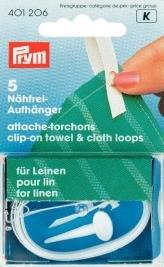 Clip-On handduks- och textilhängare för linne vit 5 st