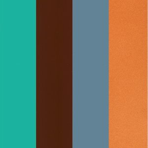 Color-Dekor färgfolie 180 °C 100 x 200 mm - 4 blandade färger 4 st sortiment 5