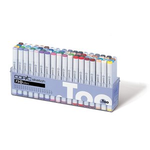 Copic Sketch set - 72 pennor - Basfärger B