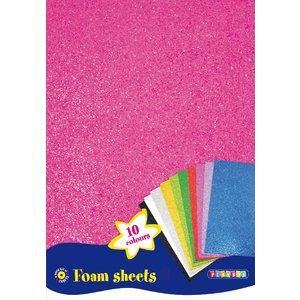 Dekorgummi - Mjuka ark 10 st glitter
