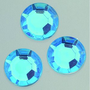 Dekorsten akryl facetterad - azurblå