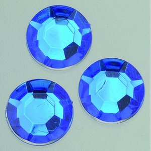 Dekorsten akryl facetterad - blå