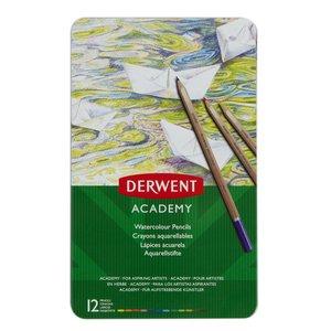 Derwent Academy Akvarell - 12 Delar
