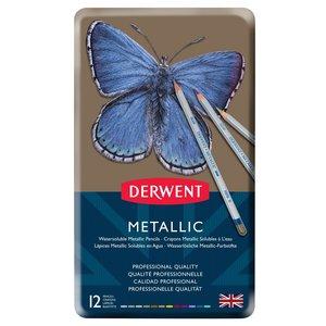 Derwent Pastellpennor (Metallic) - 12 Pennor