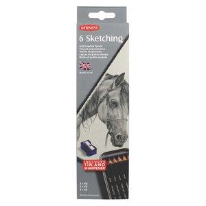 Derwent Sketching Metallask - 6 pennor
