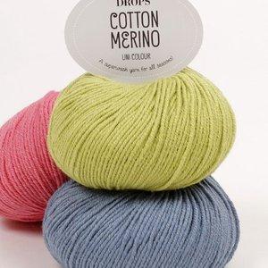 Drops Cotton Merino garn - 50g (ca 30 olika färgval)