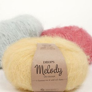 Drops Melody garn - 50g (mohaireffekt)