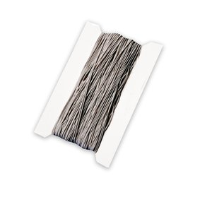 Elastisk snodd 50 m 1 mm silver