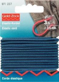 Elastiskt snöre 2.5mm marinblå 3m