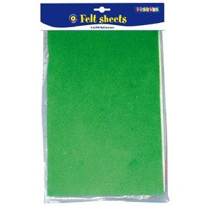 Färgade filtark