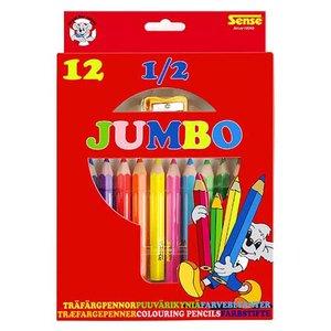Färgpennor 1/2 Jumbo Sense - 12 pennor