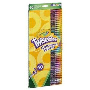 Färgpennor Crayola Twist - 40 pennor