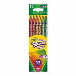 Färgpennor med Sudd Crayola Twist - 12 pennor