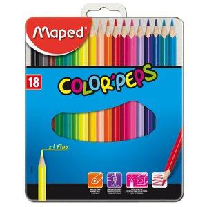 Färgpennset Maped - 18 Pennor