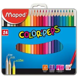 Färgpennset Maped - 24 Pennor