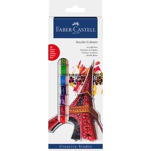 Faber-Castell Akrylfärgset 14ml - 12 färger