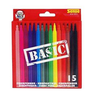 Fiberpennor Basic Sense - 15 pennor
