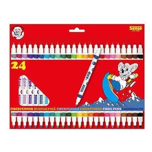 Fiberpennor Dubbelspets Sense - 24 pennor